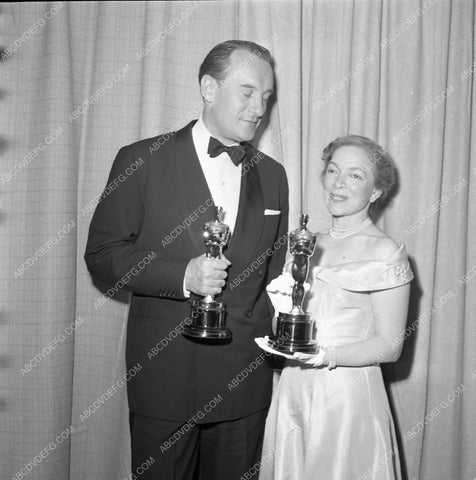 1949 Oscars George Sanders and someone Academy Awards aa1949-78</br>Los Angeles Newspaper press pit reprints from original 4x5 negatives for Academy Awards.