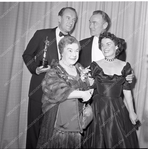 1949 Oscars Mercedes McCambridge George Sanders Academy Award aa1949-82</br>Los Angeles Newspaper press pit reprints from original 4x5 negatives for Academy Awards.