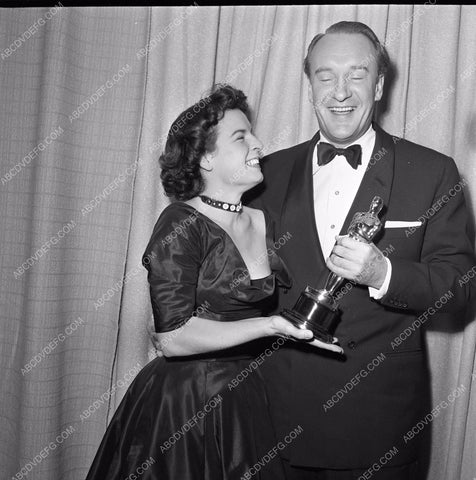 1949 Oscars Mercedes McCambridge George Sanders Academy Award aa1949-84</br>Los Angeles Newspaper press pit reprints from original 4x5 negatives for Academy Awards.