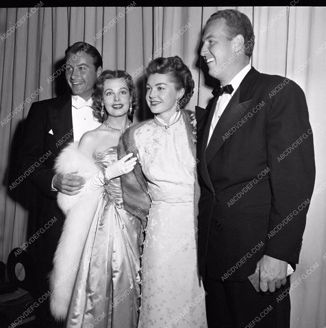 1949 Oscars Lex Barker Arlene Dahl Esther Williams Academy Awards aa1949-85</br>Los Angeles Newspaper press pit reprints from original 4x5 negatives for Academy Awards.