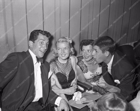 1950 Oscars Dean Martin Jerry Lewis and wives Academy Awards aa1950-07</br>Los Angeles Newspaper press pit reprints from original 4x5 negatives for Academy Awards.
