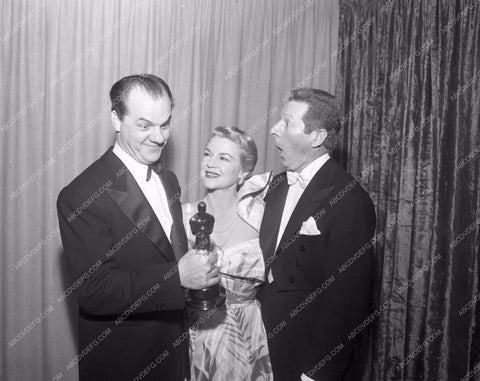 1951 Oscars Karl Malden Claire Trevor Danny Kaye Academy Awards aa1951-27</br>Los Angeles Newspaper press pit reprints from original 4x5 negatives for Academy Awards.