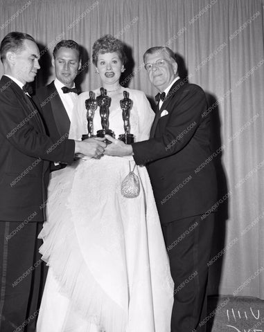 1951 Oscars Lucille Ball presents short subjects Academy Awards aa1951-32</br>Los Angeles Newspaper press pit reprints from original 4x5 negatives for Academy Awards.
