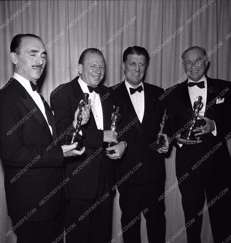 1951 Oscars George Stevens and others Academy Awards aa1951-58</br>Los Angeles Newspaper press pit reprints from original 4x5 negatives for Academy Awards.