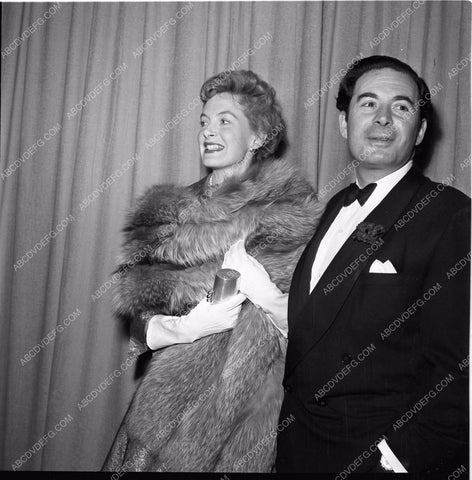 1951 Oscars Leo Genn and wife maybe Academy Awards aa1951-64</br>Los Angeles Newspaper press pit reprints from original 4x5 negatives for Academy Awards.
