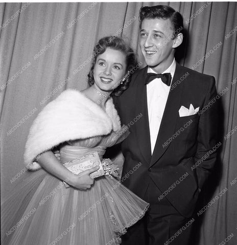 1951 Oscars Debbie Reynolds Bobby Van Academy Awards aa1951-70</br>Los Angeles Newspaper press pit reprints from original 4x5 negatives for Academy Awards.