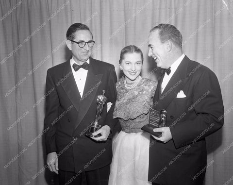 1952 Oscars Joan Fontaine and technical Academy Awards aa1952-30</br>Los Angeles Newspaper press pit reprints from original 4x5 negatives for Academy Awards.