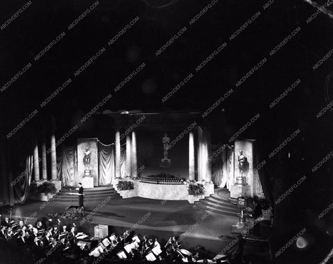 1954 Oscars stage at open ceremonies Academy Awards aa1954-19</br>Los Angeles Newspaper press pit reprints from original 4x5 negatives for Academy Awards.