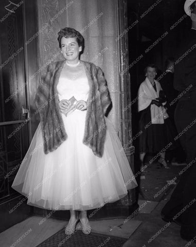 1954 Oscars Mercedes McCambridge fashion Academy Awards aa1954-31</br>Los Angeles Newspaper press pit reprints from original 4x5 negatives for Academy Awards.