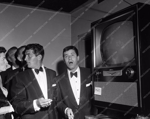 1955 Oscars Dean Martin Jerry Lewis backstage Academy Awards aa1955-39</br>Los Angeles Newspaper press pit reprints from original 4x5 negatives for Academy Awards.