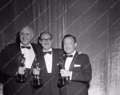 1955 Oscars Dimitri Tiomkin Academy Awards aa1955-42</br>Los Angeles Newspaper press pit reprints from original 4x5 negatives for Academy Awards.