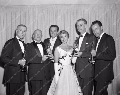 1956 Oscars Marge & Gower Champion and others aa1956-02</br>Los Angeles Newspaper press pit reprints from original 4x5 negatives for Academy Awards.