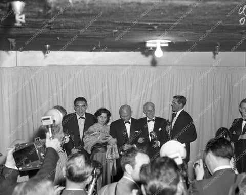 1956 Oscars Anthony Quinn Anna Magnani Cary Grant Yul Brynner aa1956-17</br>Los Angeles Newspaper press pit reprints from original 4x5 negatives for Academy Awards.