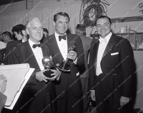 1956 Oscars Buddy Adler Cary Grant Ernest Borgnine Academy Awards aa1956-20</br>Los Angeles Newspaper press pit reprints from original 4x5 negatives for Academy Awards.