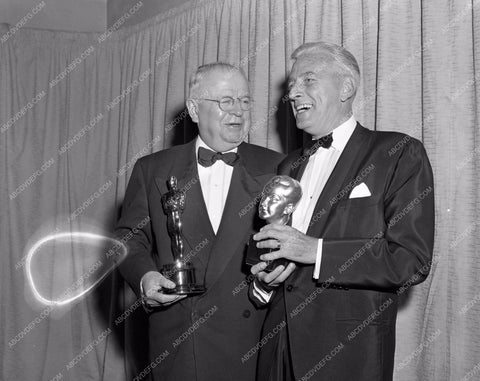 1957 Oscars Buddy Adler and Academy Awards aa1956-38</br>Los Angeles Newspaper press pit reprints from original 4x5 negatives for Academy Awards.