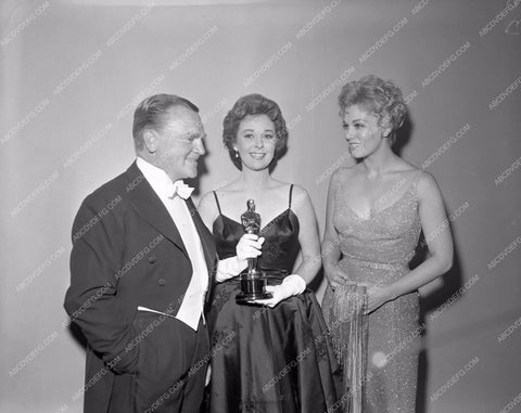 1958 Oscars James Cagney Susan Hayward Kim Novak Academy Awards aa1958-66</br>Los Angeles Newspaper press pit reprints from original 4x5 negatives for Academy Awards.
