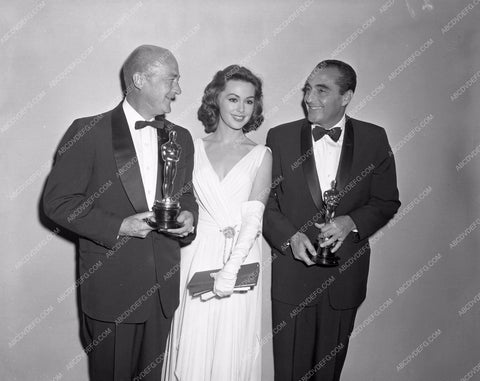1959 Oscars Barbara Rush presents editing Academy Awards aa1959-18</br>Los Angeles Newspaper press pit reprints from original 4x5 negatives for Academy Awards.
