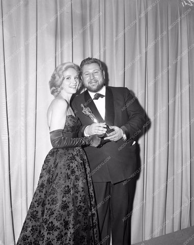 1960 Oscars Eva Marie Saint Peter Ustinov Academy Awards aa1960-12</br>Los Angeles Newspaper press pit reprints from original 4x5 negatives for Academy Awards.