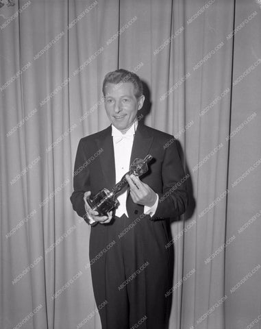 1960 Oscars Danny Kaye and statue Academy awards aa1960-33</br>Los Angeles Newspaper press pit reprints from original 4x5 negatives for Academy Awards.