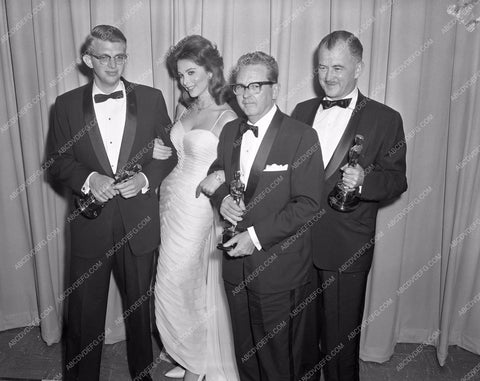 1960 Oscars Tina Louise and others Academy Awards aa1960-42</br>Los Angeles Newspaper press pit reprints from original 4x5 negatives for Academy Awards.