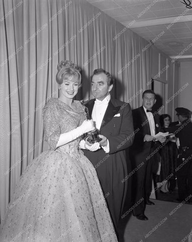 1960 Oscars Hugh Griffith Academy Awards aa1960-57</br>Los Angeles Newspaper press pit reprints from original 4x5 negatives for Academy Awards.