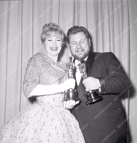 1960 Oscars Peter Ustinov Academy Awards aa1960-74</br>Los Angeles Newspaper press pit reprints from original 4x5 negatives for Academy Awards.