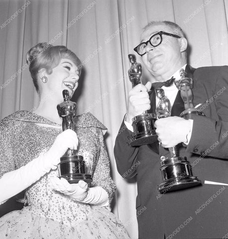 1960 Oscars Billy Wilder Academy Awards aa1960-78</br>Los Angeles Newspaper press pit reprints from original 4x5 negatives for Academy Awards.