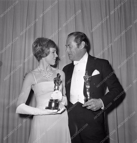 1964 Oscars Julie Andrews Rex Harrison Academy Awards aa1965-02</br>Los Angeles Newspaper press pit reprints from original 4x5 negatives for Academy Awards.