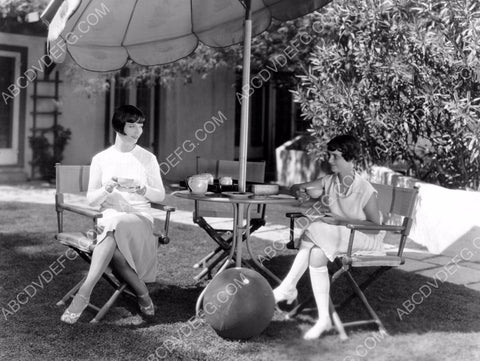 a spot of tea for Louise Brooks in the back yard 8b20-0801