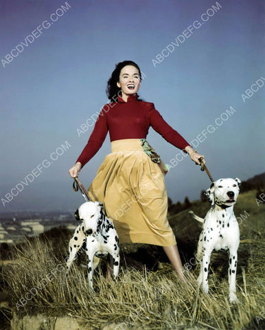 Ann Blyth and her two dalmation dogs 8b20-11039