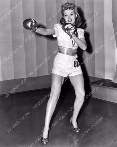 athletic Betty Grable dons the boxing gloves for a little exercise 8b20-4848