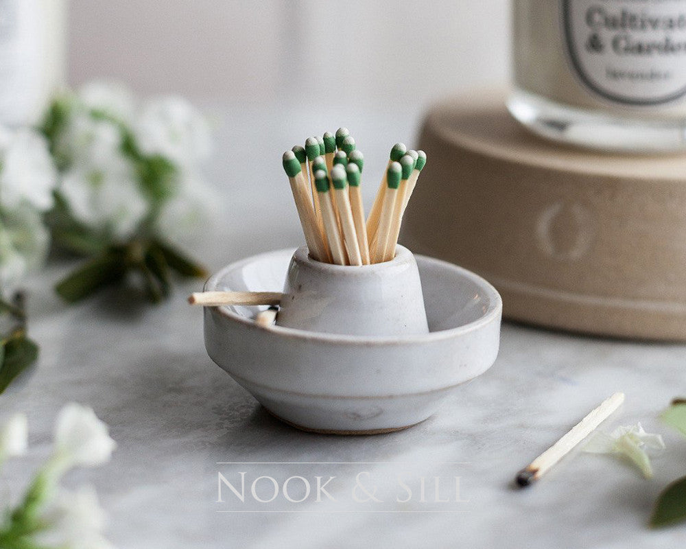 Nook & Sill: Candles, Match Strikers, Handmade Home Decor