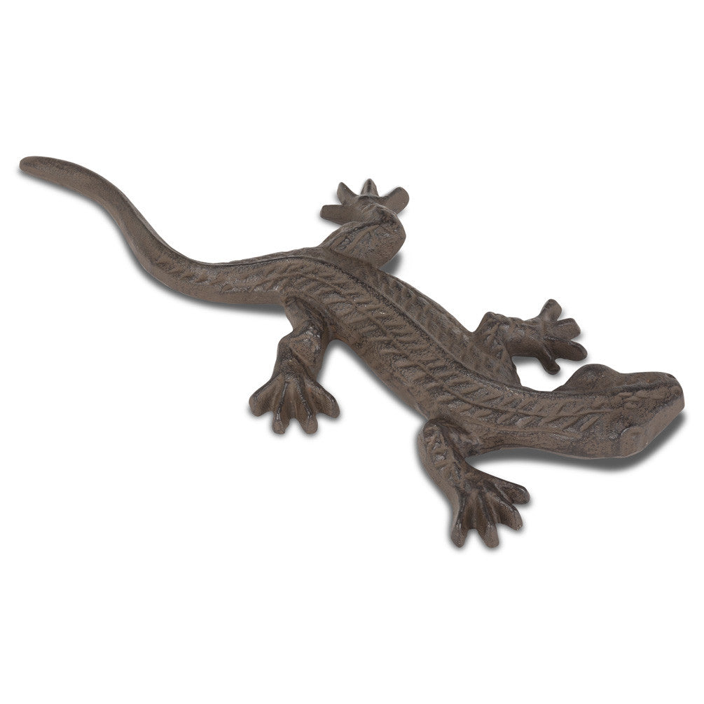 Cast Iron Statuette: Long Lizard