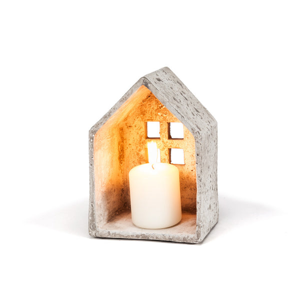 Wide House Candle Holder: Medium