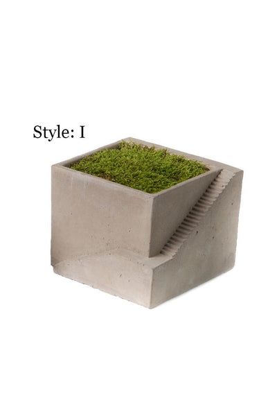 Cement Architectural Cube Planters