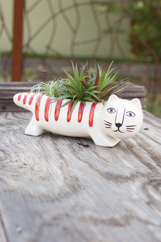 Ceramic Cat Planter