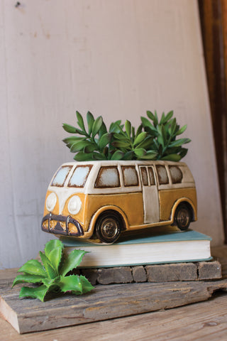 Ceramic VW Van Planter