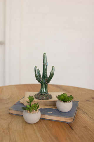 Ceramic Cactus Ring Holder