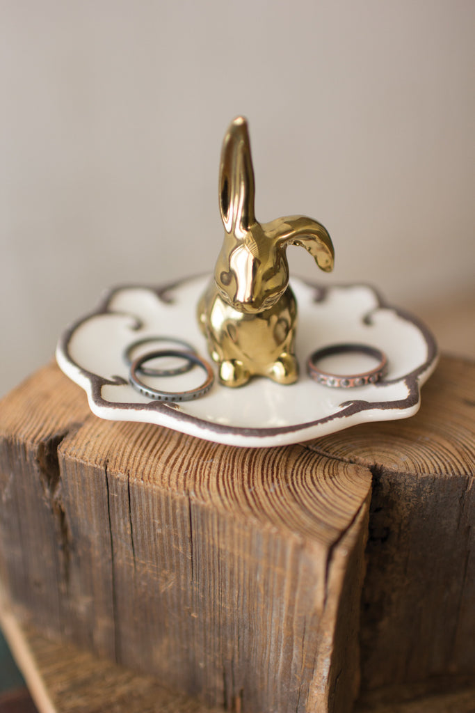 Rabbit Ring Holder: Ceramic