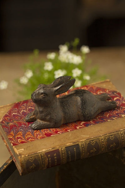 Cast Iron Statuette: Rabbit Resting