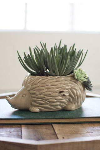 Ceramic Hedgehog Planter