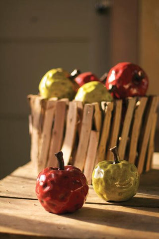 Ceramic Apple: Red