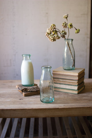 Recycled Milk Bottle Bud Vase