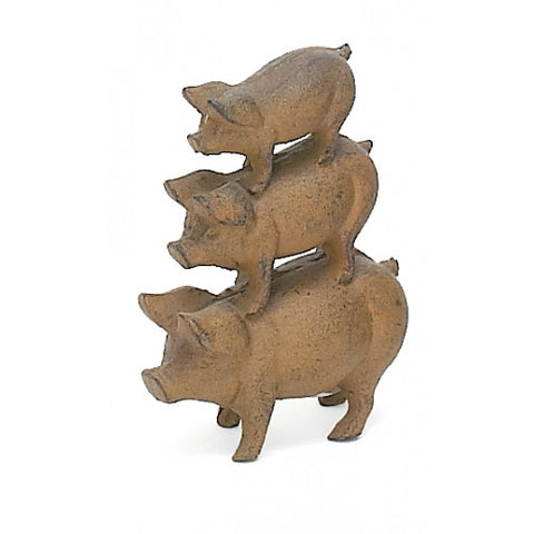 Cast Iron Statuette: Three Little Pigs