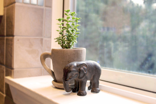 Cast Iron Statuette: Elephant