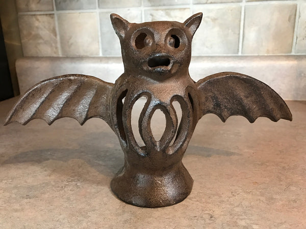 Cast Iron Bat Candle Holder
