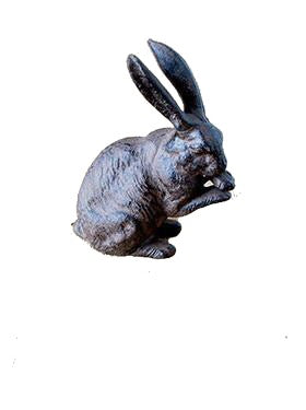 Cast Iron Statuette: Rabbit