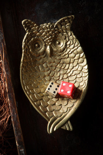 Owl Tray: Gold