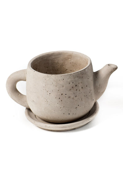 "Cement ""Tea Pot"" Planter"