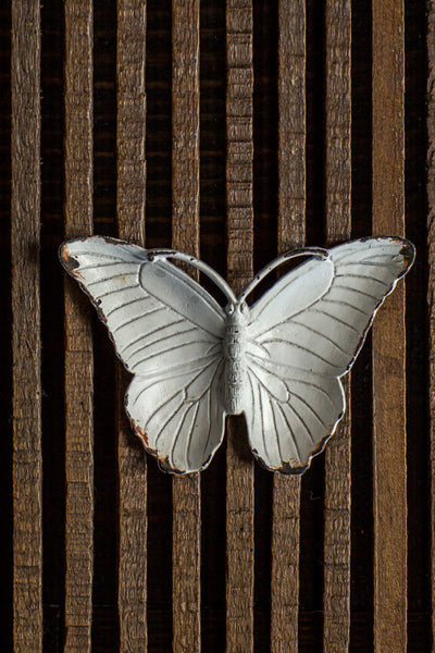 Butterfly Dish: Antique White Pewter